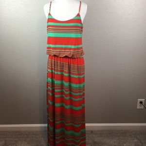 Dresses & Skirts - Green and red maxi dress